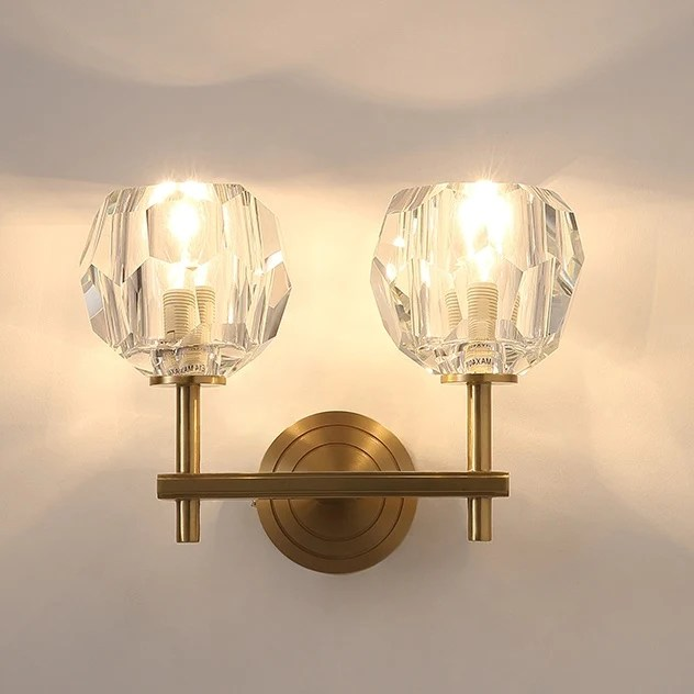 Crystal Solid Brass Sconce Wall Lights Bathroom Lights ... on Bathroom Wall Sconce Lighting id=23364