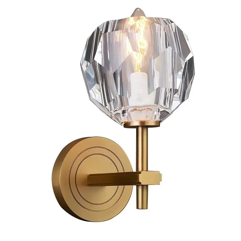 Crystal Solid Brass Sconce Wall Lights Bathroom Lights ... on Crystal Bathroom Sconces id=26143
