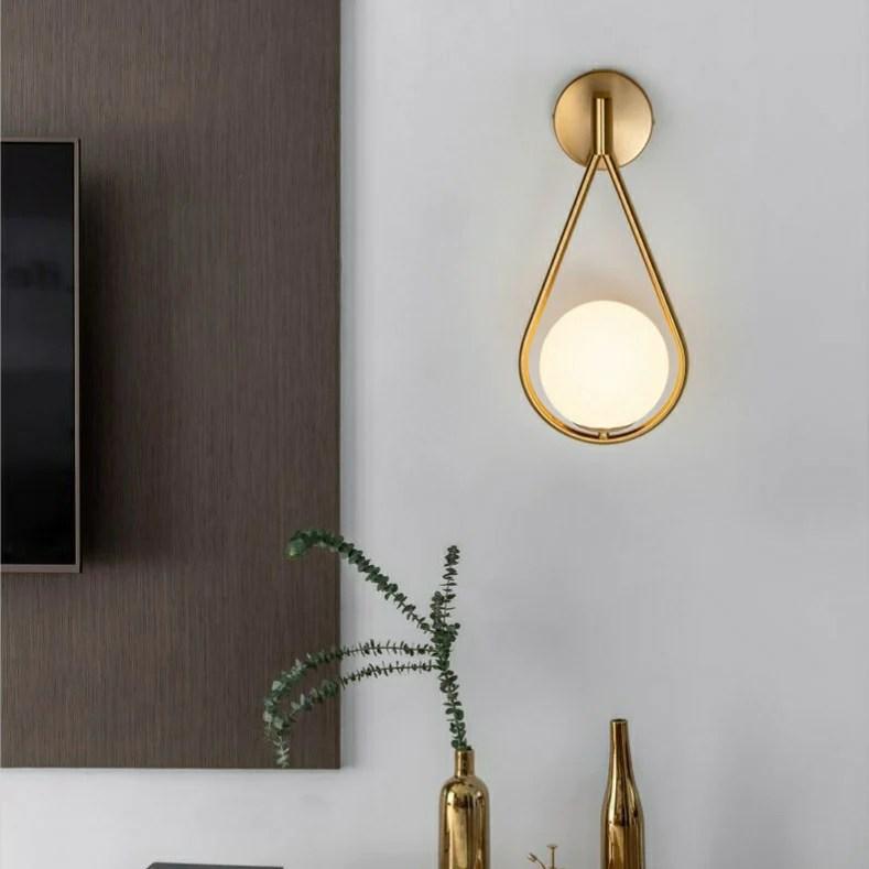 Glass ball Sconce Wall Lights Bathroom Lights Vanity ... on Bathroom Wall Sconce Lighting id=34282