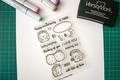 hedgehogs in love stamp set