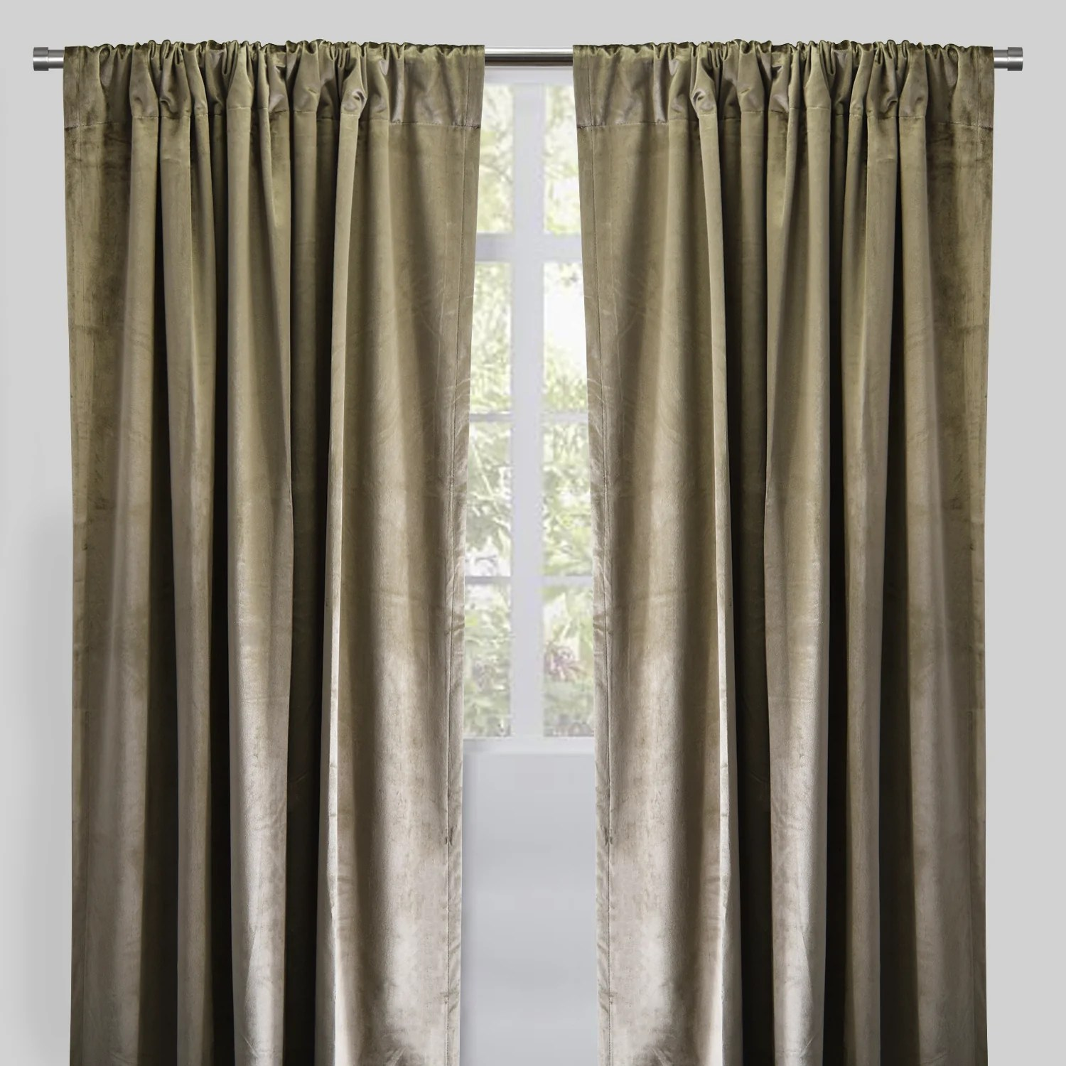 calypso set of 2 velvet curtain panels available sizes 54x84 54x96 color pewter