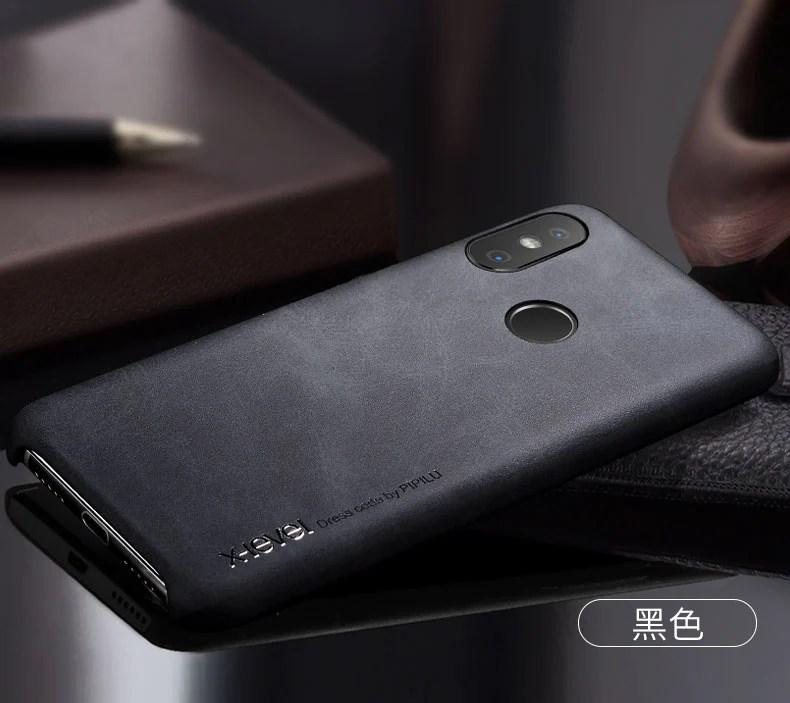 Original X Level Xiaomi Mi A2 Lite Vintage Pu Leather Back Cover Xiaomi Redmi 6 Redmi 6 Pro Ultra Thin Leather Case Coque Fundas