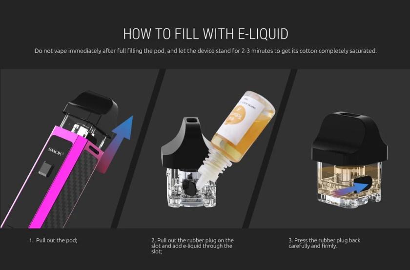 Smok RPM 40 Vape Pod System VW Starter Kit Filling E-liquid