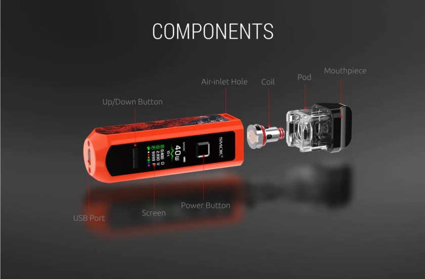 Smok RPM 40 Vape Pod System VW Starter Kit Components