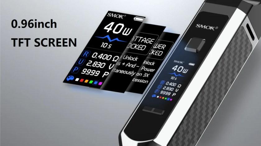 Smok RPM 40 Vape Pod System VW Starter Kit 0.9Inch TFT Screen