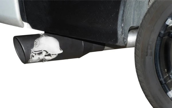 nissan titan crew extended cab metal mulisha exhaust system stainless w 6 black tip