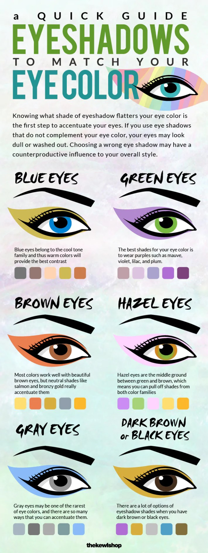 makeup colors for blue green eyes - wavy haircut