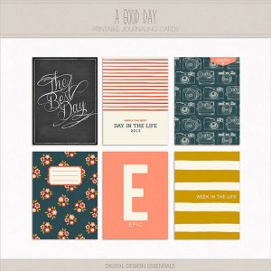 NEW! A Good Day Journaling Cards