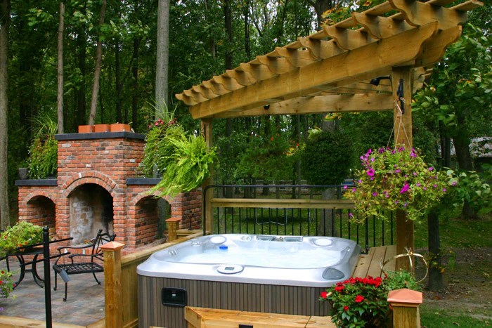 Hot Tubs In Landscaped Gardens Inspiration | Outdoor Living on My Garden Outdoor Living id=27397