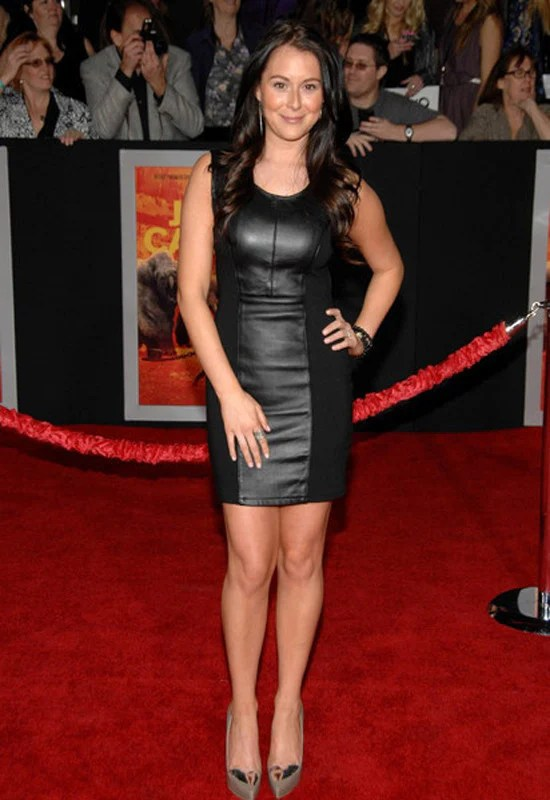 Alexa Vega in Blaque Label Leather Cut Out Dress