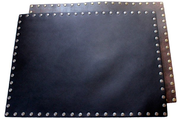 Leather Placemat Black Or Brown PEACE General Store