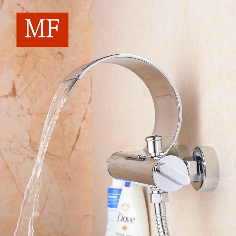 robinet de baignoire mitigeur cascade en laiton chrome pour salle de bains