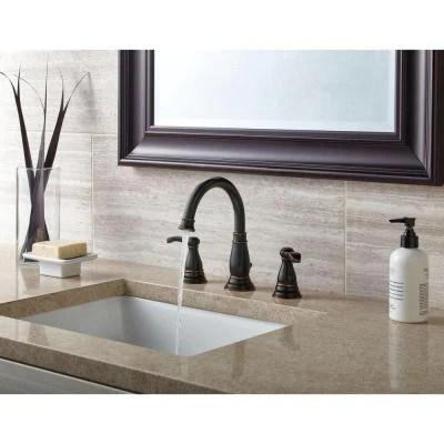 delta porter 8 in widespread 2 handle bathroom faucet in oil rubbed bronze