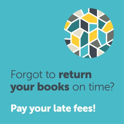 This logo encourages late fee payment before higher costs are incurred
