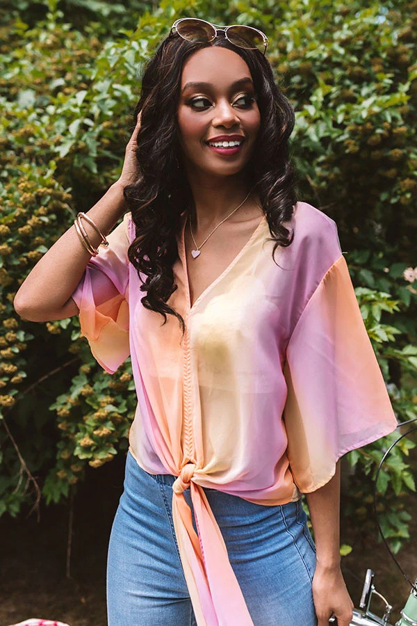 Notoriously Chic Ombre Tie Top • Impressions Online Boutique