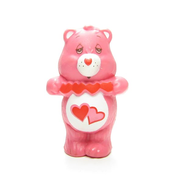 Love A Lot Bear Holding Cut Out Hearts Care Bears