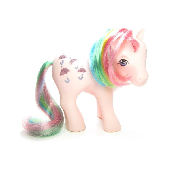 Parasol My Little Pony Vintage G1 Rainbow Hair Brown