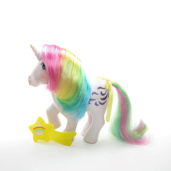Windy My Little Pony Vintage G1 Rainbow Hair Unicorn