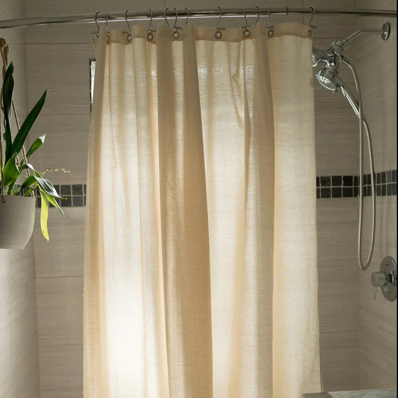 cotton shower curtain white or natural bath tub stall sizes made in usa