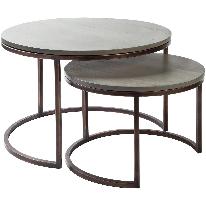 aaron round nesting table set burke decor