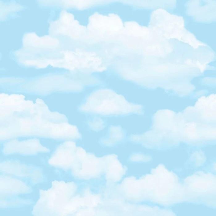 sample cloud nine wallpaper in blue