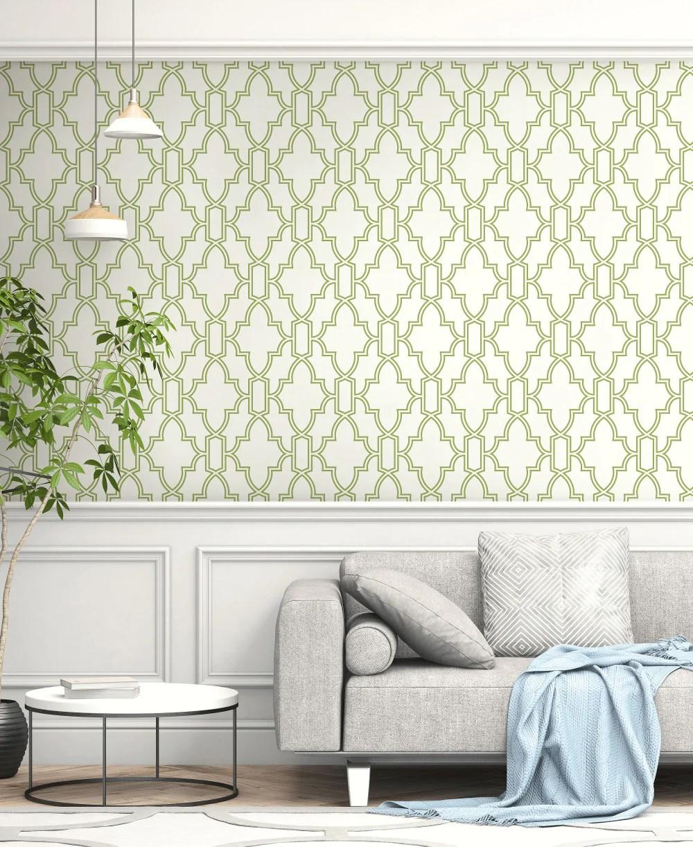 tile trellis peel and stick wallpaper