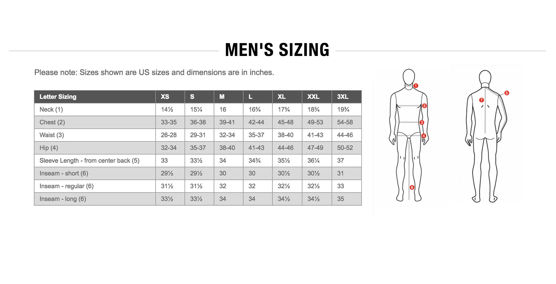 sizing charts the north face - HD1862×954