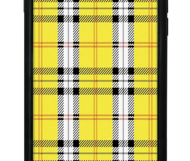 Wildflower Yellow Plaid Iphone  Plus Case