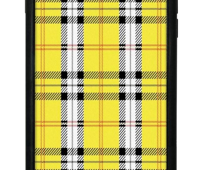 Wildflower Yellow Plaid Iphone  Plus Case