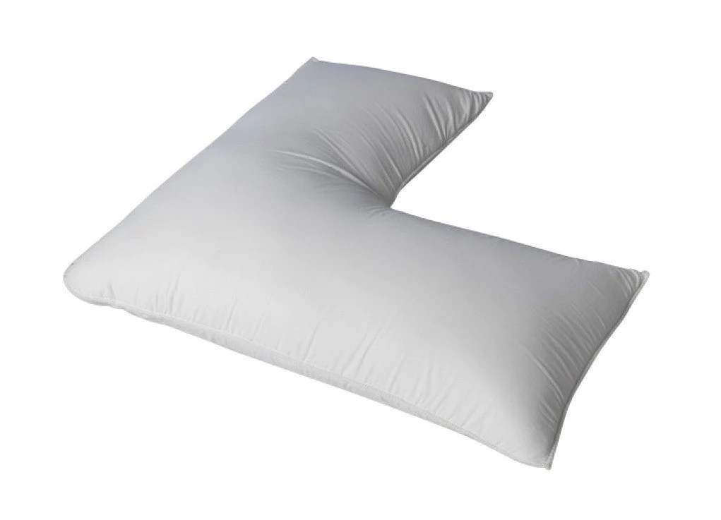 down feather l shaped body pillow