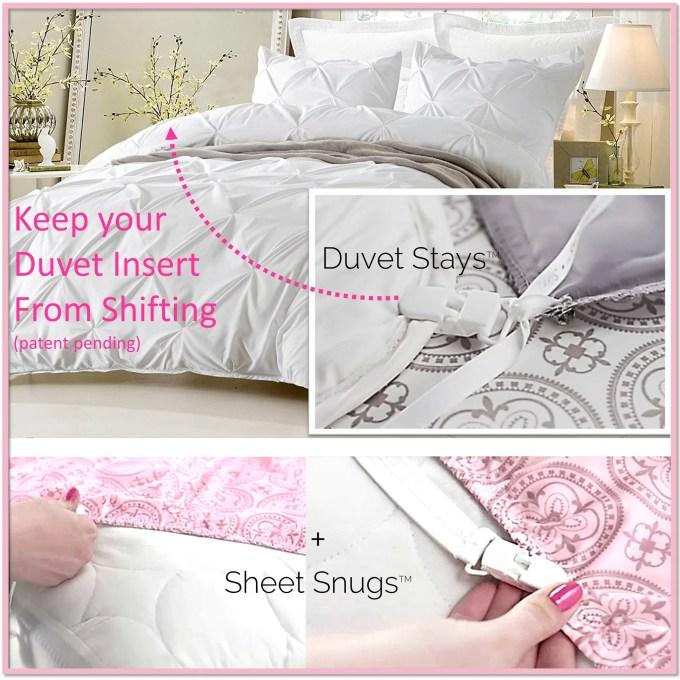"""Duvet Stays and Sheet Snugs- The Complete """"Sleep Tight"""" Bedding System - Boottique"""