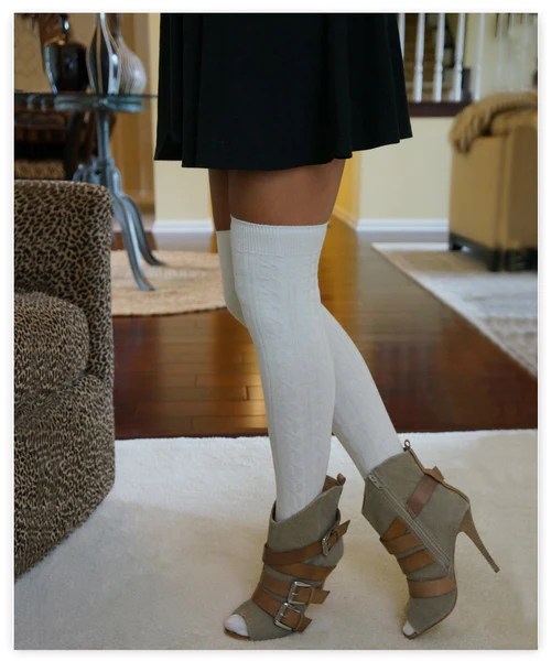 Luxe Legs™ Cable Knit Thigh-Highs