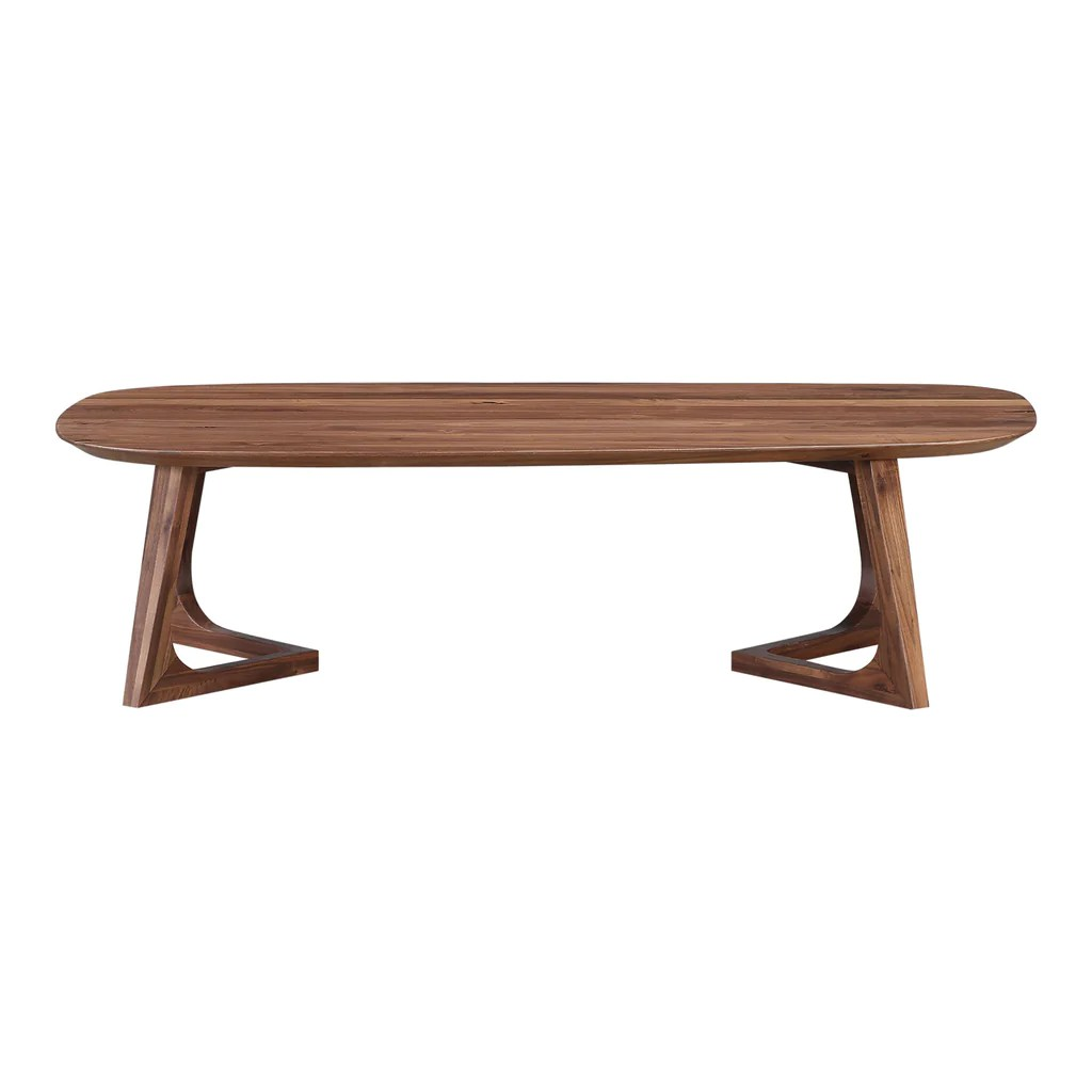 Godenza Mid Century Modern Coffee Table Solid Walnut Large