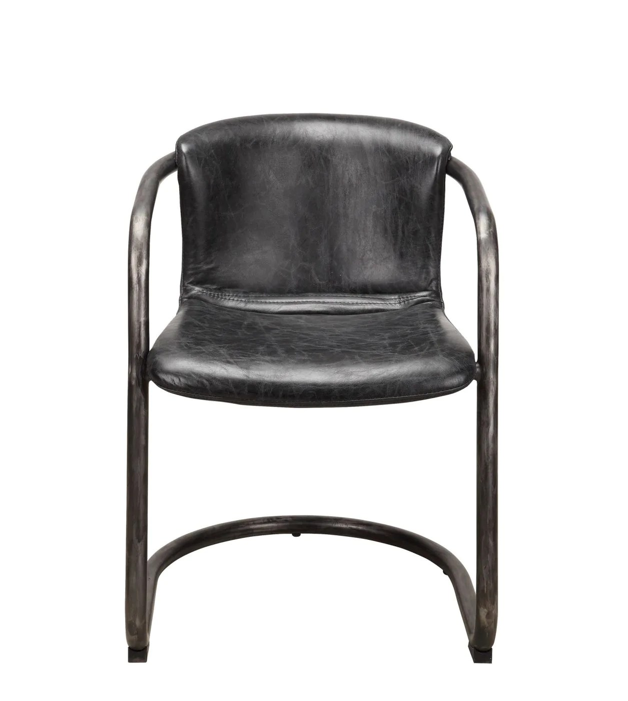 Best Price On Moe S Home Collection Pk 1059 02 Freeman Modern Industrial Dining Chair Antique Black Distressed Leather Set Of 2 Only 1 024 00 At Contemporary Furniture Warehouse