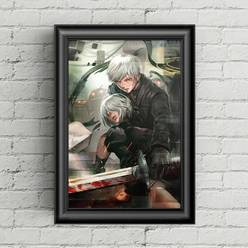 9s 2b nier automata poster print