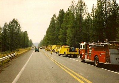 Awbrey Hall Firefighters with their equipment in Bend Oregon