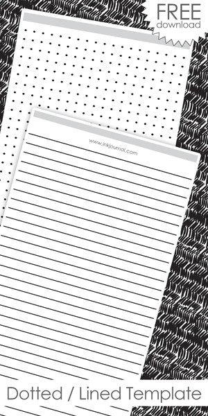 Dotted/Lined Templates from Ink Journal