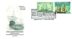 War of 1812 Bicentennial Stamp First Day Cover: Constitution Escaping the British Cachet