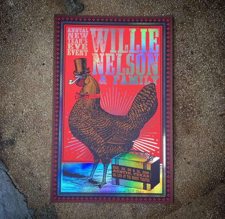 Willie Nelson-New Years Eve 2018 (Rainbow Foil) - Status ...