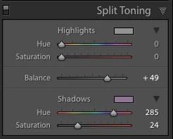how to adjust preset intensity in lightroom