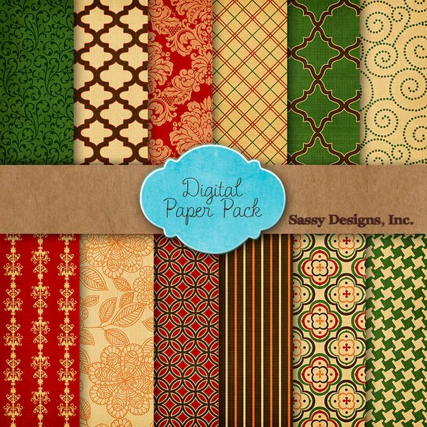 12 Free Digital Papers For Thanksgiving And Christmas