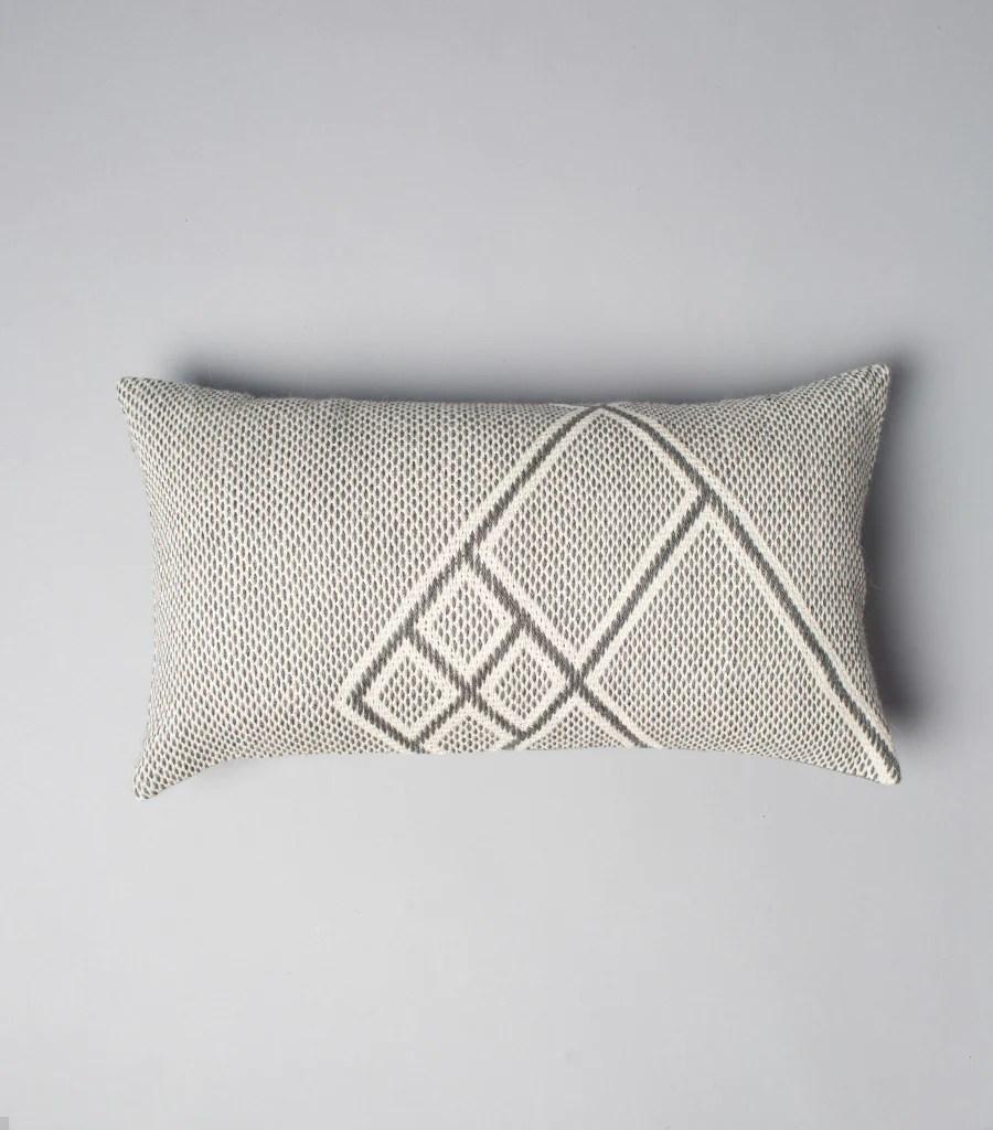 che lumbar pillow in light grey