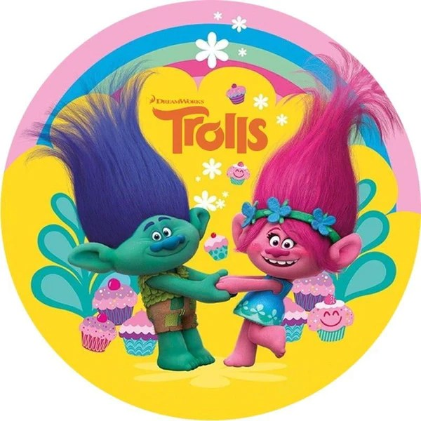 Trolls Edible Cake Image Build A Birthday