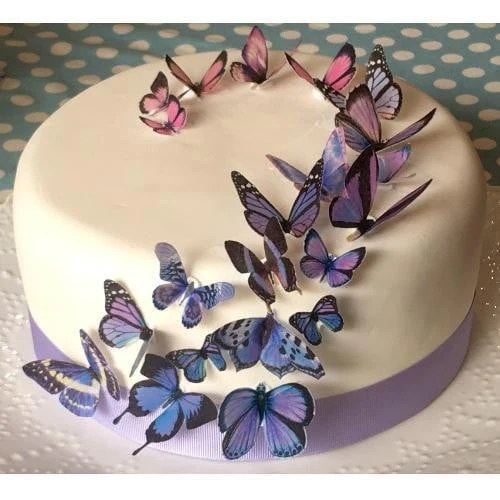 Buy Butterfly Party Supplies Online at Build a Birthday NZ Sweet Whimsy   Purple Butterfly Edible Images