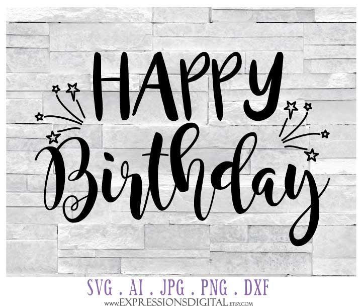 Download Printable Birthday Card Clipart Design, DXF Die Cut Cricut ...