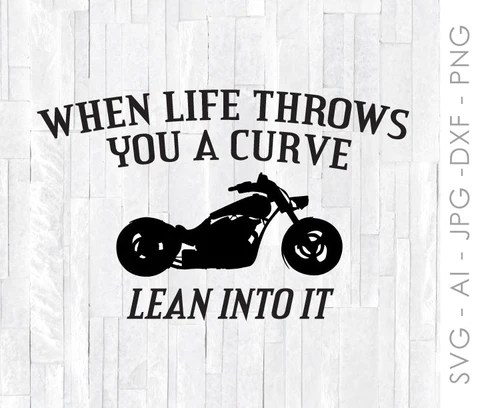 Download Motorcycle SVG for Cricut, Silhouette Clipart Quote, Life ...