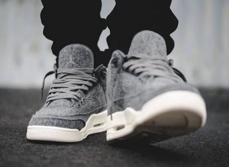 THE AIR JORDAN 3    WOOL      8 9 Clothing Co  air jordan 3 wool on feet