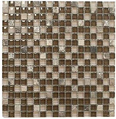 brown with dark emperador square glass mosaic tile for bathroom and kitchen walls kitchen backsplashes by vogue tile free shipping