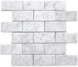 carrara white italian carrera marble subway brick mosaic tile 2x4 honed bianco bathroom kitchen backsplash floor tile free shipping