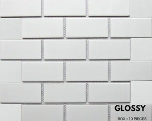 italy subway tile white matte finish 2
